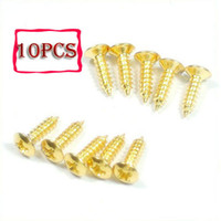 Wholesale 50pcs Gold Guitar Pickguard Screws Tele Start