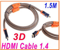 Wholesale 1 M FT Full P D HDMI Cable for XBOX PS3 HDTV HDMI Male to Male brown amp orange