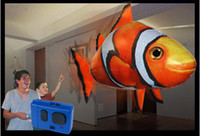 Wholesale Air Swimmers Remote Control Flying Shark Nemo Flying Remote Control RC Animal Planet Blimp RC toy