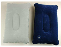 Wholesale Big discount Inflatable Travel Pillow Air Cushion Car Soft Back Rest V3369