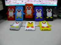 Wholesale Cute Penguin Silicone case For Apple ipod touch G th gen Soft Silicon Back Case Cover
