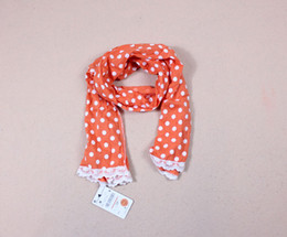Wholesale 2012 HOT SALE Baby Lace White dots scarf Multicolo rrandom delivery three colors