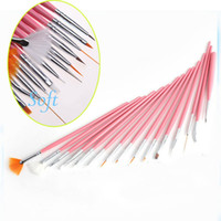 Nail Art Brushes 15 Pcs Plastic Free Shipping New 15pcs Acrylic Nail Art Design Painting Tool Pen Polish Brush Set Kit DIY Pro