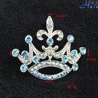 Wholesale Rhinestone Crown Brooch and Pin Jewelry Diamond Woman Girl Fashion Products P233 G PC