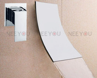 Wholesale NEW design Bathroom Wall Mounted Waterfall Basin faucet Luxury brass Bath Sink tap NY02761B
