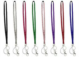 Wholesale high quality crystal lanyards Crystal decorative rhinestone neck lanyard strap mobilphone lanyard