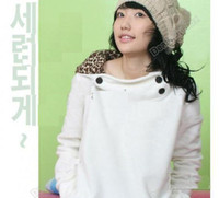 Wholesale Stylish Womens Autumn Hoodies Leopard Sweatshirt Top Outerwear Parka Coats