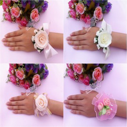 Wholesale 10 Wedding supplies bride hand flower sisters hand flowers roses wedding props
