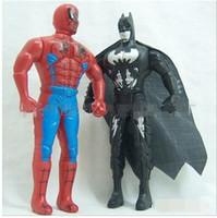 Wholesale Children s toys cartoon hero playset Spider Man Batman installed