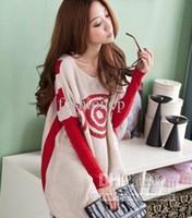 Wholesale Plus Size Angora Sweaters Ladies Striped Bat Sleeve Long Bottoming Knitted Loose Sweater JXZZ