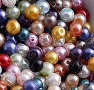 5000pcs / lot Multicolor Mixed Rodada pérola de imitação dos grânulos de vidro 4 milímetros