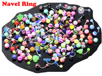 Wholesale Mixed Color Acrylic Belly Button Navel Rings Piercing Body Jewelry Multicolor Promotional