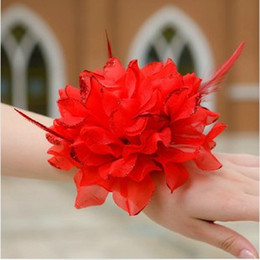 10 pcs Children performing flowers, the bride hand flower head flower, bridesmaid wrist flower