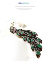 african novels - Fashion Jewelry Vintage Novel Peacock Design Colorful Alloy Rings Retro Metal Lovely Ring