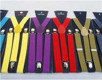 Wholesale Clip on Solid Braces Suspenders more color suspenders straps