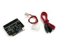 Wholesale new IN SATA TO IDE IDE TO SATA Card Converter Adapter With sata data cable sata power cable