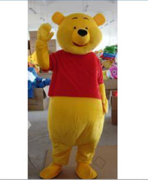 Wholesale 2012new Lovely Winnie The Pooh Mascot Costume Adult Size Cartoon Mascot Animal Apparel