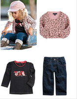 baby jeans jackets - Autumn Children Clothing set Baby Clothes Sets girls clothes Suit jacket Tshirt Jeans Girl Wear