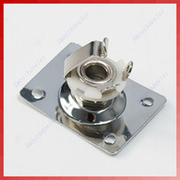 Wholesale New Chrome Rectangle Output Guitar Plate Socket For
