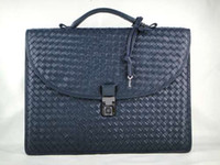 Wholesale 1021 Nero Intrecciato Light Calf Briefcase genuine leather handbags designer bags