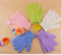 Wholesale In Stock Cloth Bath Mitt Exfoliating Gloves Face or Body Bath Scrub Moisturizing gloves