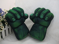 Wholesale 2012 New Arrivals Cosplay Incredible Green Hulk Smash Hands Plush Gloves