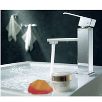 Pull Down bathroom pull handles - Square Stainless Single Handle Kitchen Bathroom Waterfall Faucet Vanity Sink