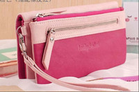 Wholesale Cheap New Arrival Wristlet Clutch Zipper Multi Function Popular Sweet Lady Purse Big Size