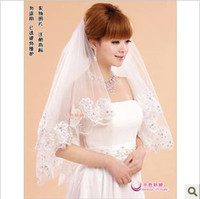Wholesale Fashion point drill retro lace the bulk of new yarn wedding trailing three meters long veil