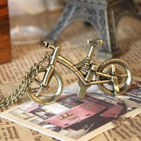 Charm bicycle chain necklace - Bicycle Necklace Creative jewelry Retro chain Fashion gold necklace