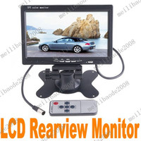 Wholesale 2pcs J57 Black quot TFT LCD Color Car Rearview Headrest Monitor DVD VCR