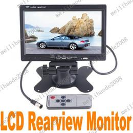 Wholesale 2pcs J57 Black quot TFT LCD Color Car Rearview Headrest Monitor DVD VCR