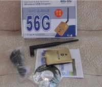 54Mbps USB 15pcs High Power Wifly-city 56G 54Mbps 1000mw 6dBi USB Wireless Adapter Wifi Antenna 8187L Chipset