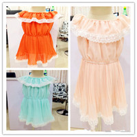 Children Are Perfectly Clear Flowing Chiffon Lace Dresses