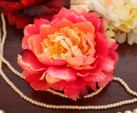 Wholesale NEW ARRIVALS New cm inch Silk Artificial Simulation Flower Head Peony Rose Wedding Party
