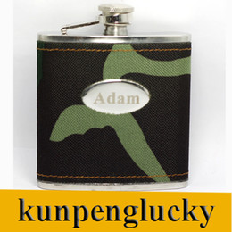 Wholesale Personalized oz Stainless Steel Camouflage Hip Flask Gifts Advertising Hip Flask