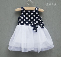 2013 girls dress Sleeveless Dresses Of Cotton Classic Cute P...