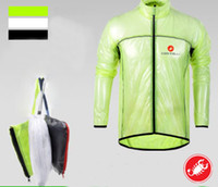 Wholesale castelli cycling raincoat three color for choice Windbreaker cycling rain jacket transparent raincoat