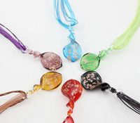 South American gold dust - Hot colorful handmade gold dust thread murano glass beaded pendant necklace jewelry