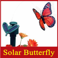 Wholesale 20pcs Solar Butterfly Simulation Flying Butterflies Kids LED Toys Grass Balcony