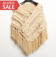 Wholesale Fur Rabbit hair Weave Tassels River Delta Shawl Princess Fur shawl