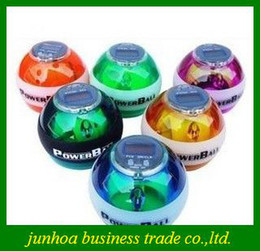Hot Sales LCD Counter Led Lights Power Ball With Retail Package Wrist Balls Powerball Free Shipping