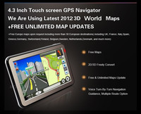 Wholesale 100 Factory price quot gps navigation CPU MTK3551 M G Bluetooh AV IN Free intall World Map