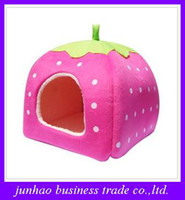 Wholesale Latest new thickening Cute strawberry Nest multi function Yurts Dog House Pet kennel Cat Litter