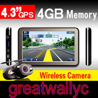 Wholesale 100 Factory price quot gps navigation CPU MTK3551 M G Bluetooh AV IN Wireless Reverse Camera