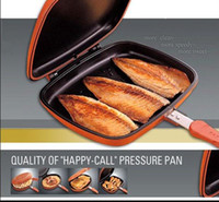 Wholesale Double sided pressure frying pan happycall non
