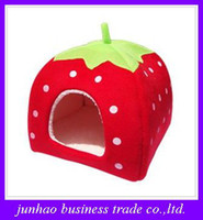 yurts - Creative new thickening Cute strawberry Nest multi function Yurts Dog House Pet kennel Cat Litter