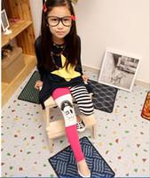2-6Y apparel leggings - Factory sell Children Apparel Girl s Children Leggings Pants stripe montage Skull Heads girl Pants