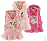 2T-3T best fleece vest - Best Quality Baby clothing Girl s Clothes CORAL FLEECE Girl Vest Dress Hoodies Dress Baby s Dresses