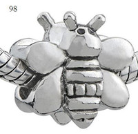 Wholesale Bead LIKELY BEE SILVER EP Silver European charm for Bracelet Each style styles